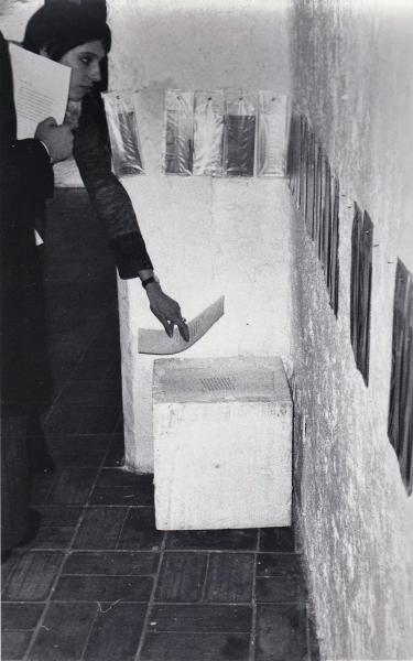 1973 inaugurazione mostra Gap P Pitagora