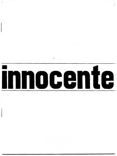 Innocente catalogo